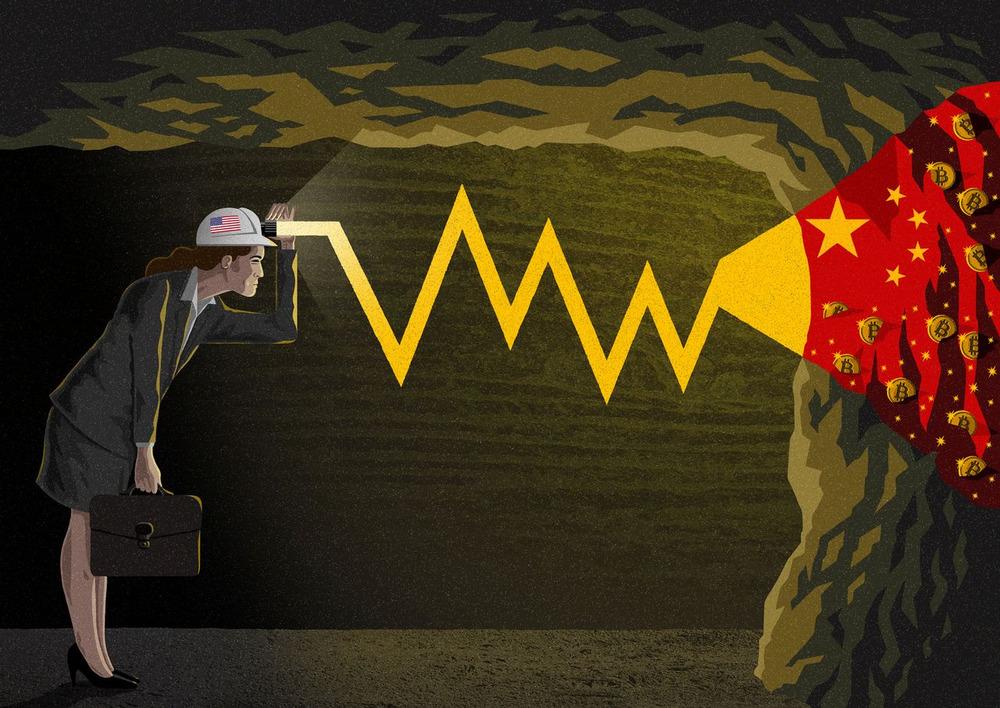 中国に採掘を依存するビットコインをめぐる懸念